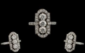 Platinum Superb Quality Diamond Set Ring