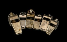 Collection of Antique Whistles, six in t
