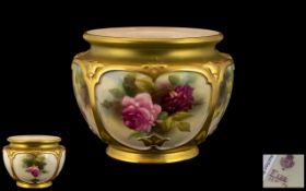Royal Worcester Hand Painted Porcelain F