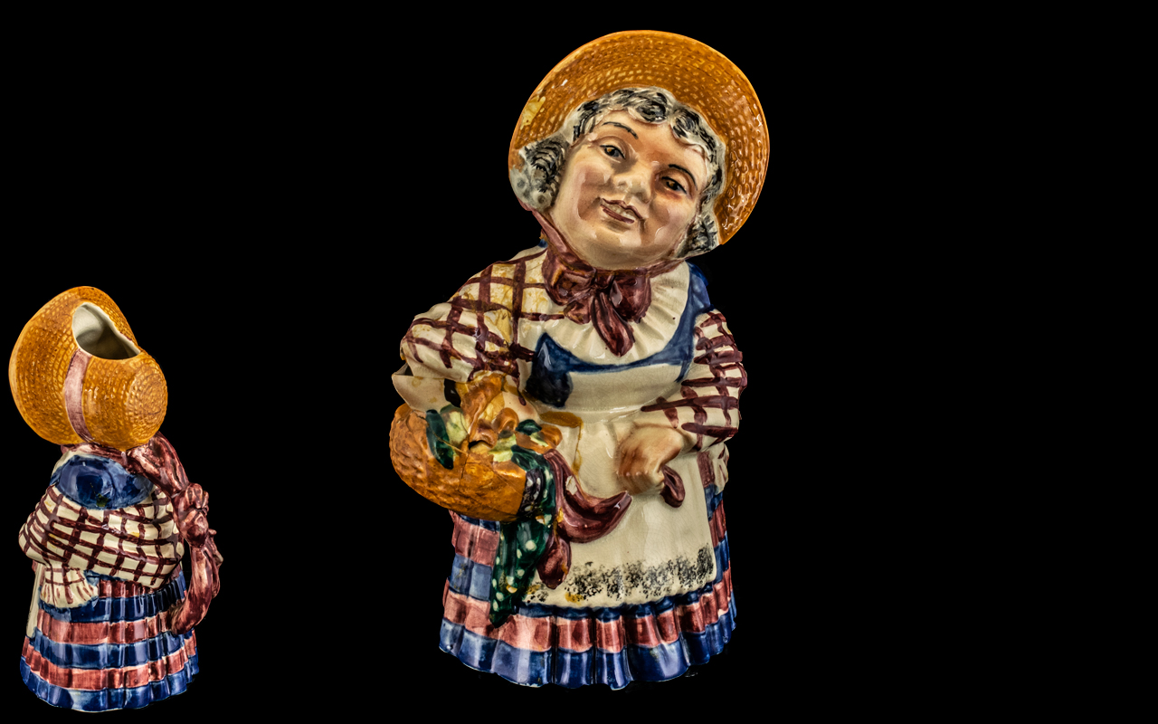 Shorter and Son Staffordshire Hand Painted ' Doyly Carte Opera ' Ceramic Character Jug of Large Size