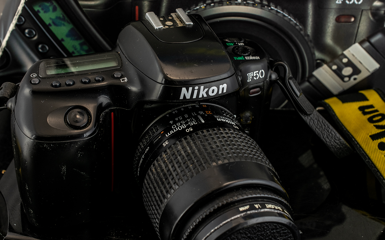 Nikon F50 Camera 3D Matrix Metering, - Image 2 of 2