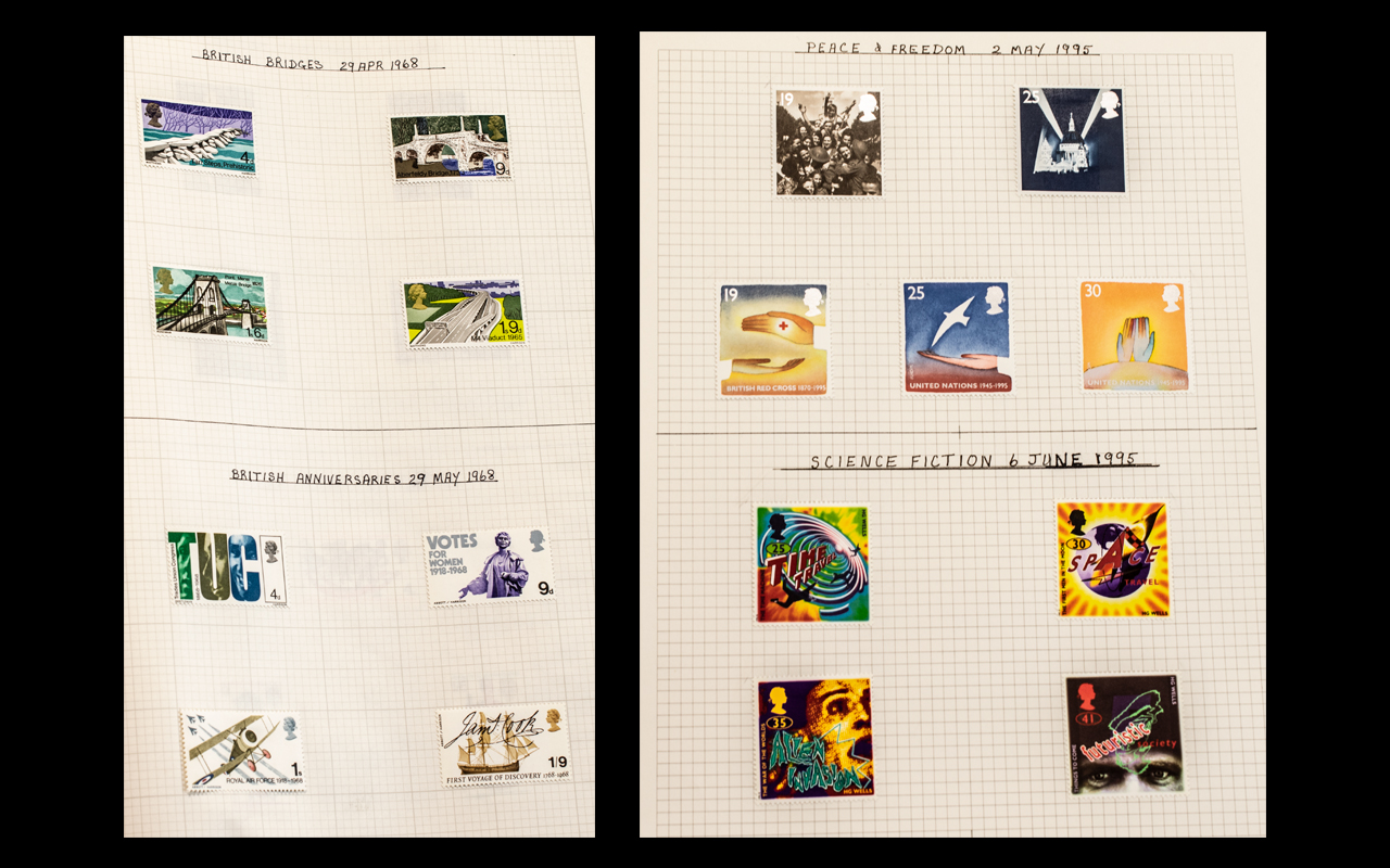 A Largely Complete Set of Mounted Mint GB Stamps from 1958 to 1996.