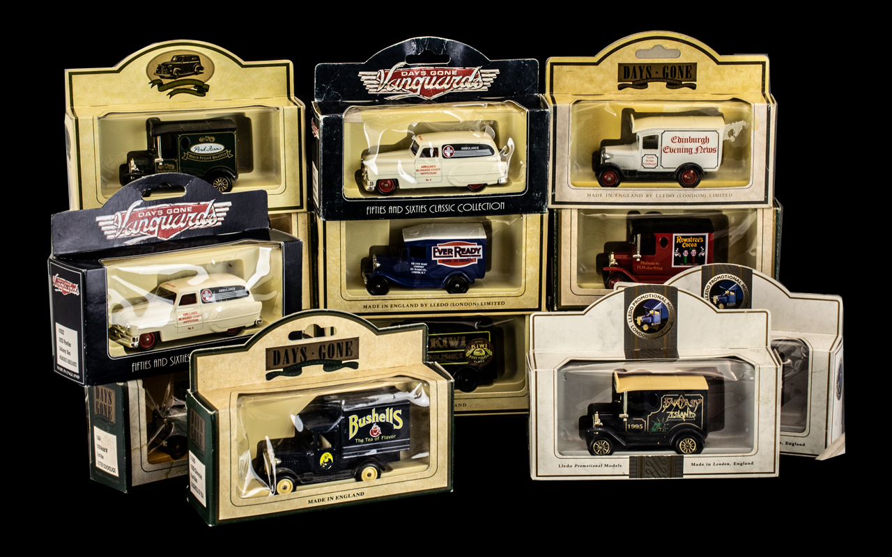 20 Assorted Boxed Diecast Model Vehicles, includes Corgi,Lledo, Advertising etc. Cars, trucks, and