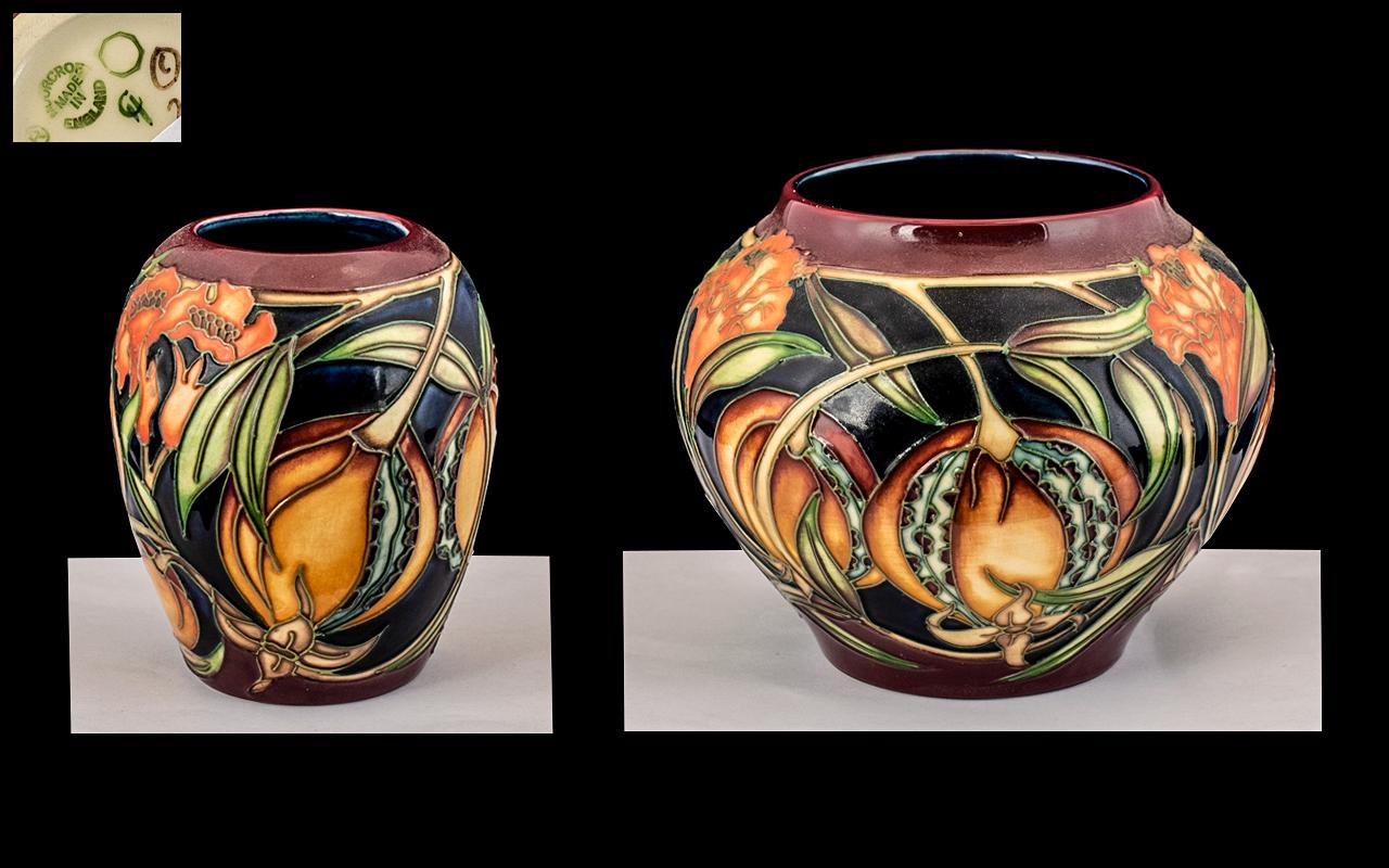 Moorcroft - Modern Tubelined Vases ( 2 ) Both Vases are of the ' Plevriana ' Design.