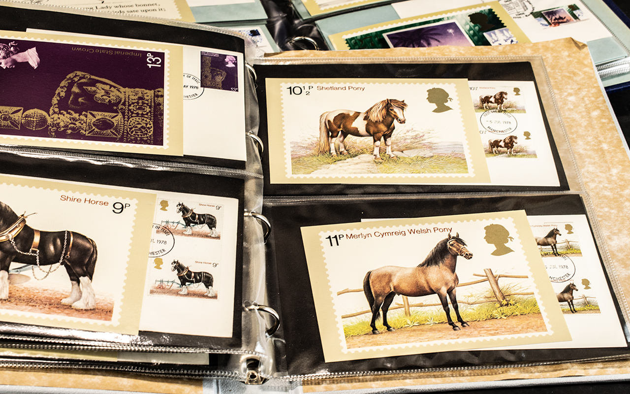 Very extensive collection of Post Office PHQ postcards and first day covers in nine folders, - Image 3 of 7