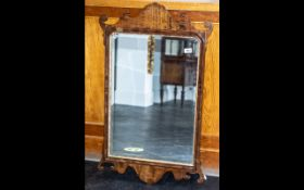 Fine Quality Reproduction Chippendale Style Mahogany and Gilt Wood Mirror, 23 inches (app.57.