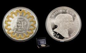 HM Queen Elizabeth II and HRH The Duke of Edinburgh Platinum Wedding Anniversary Silver Proof