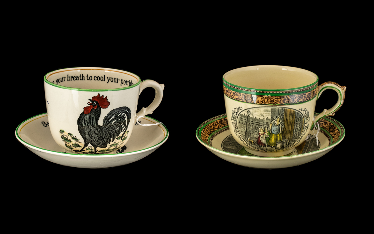 Pair of Adams Breakfast Cups and Saucers, one 'Cries of London' pattern,