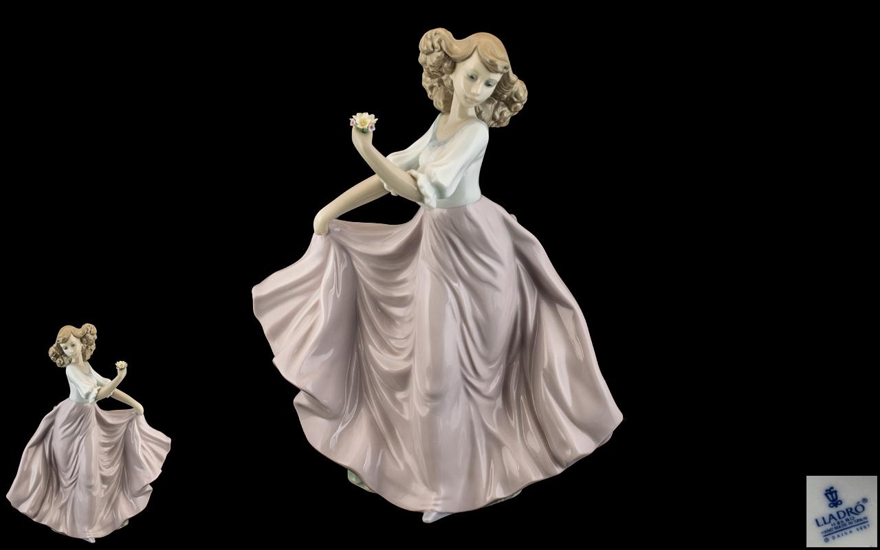 Lladro - Hand Painted Porcelain Figure ' Summer Breeze ' Model No 6543. Designer Regino Torrijos.