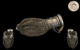 Victorian Period - Ladies French Wonderful Quality Silver Expanding Mesh Purse for Holding Gold