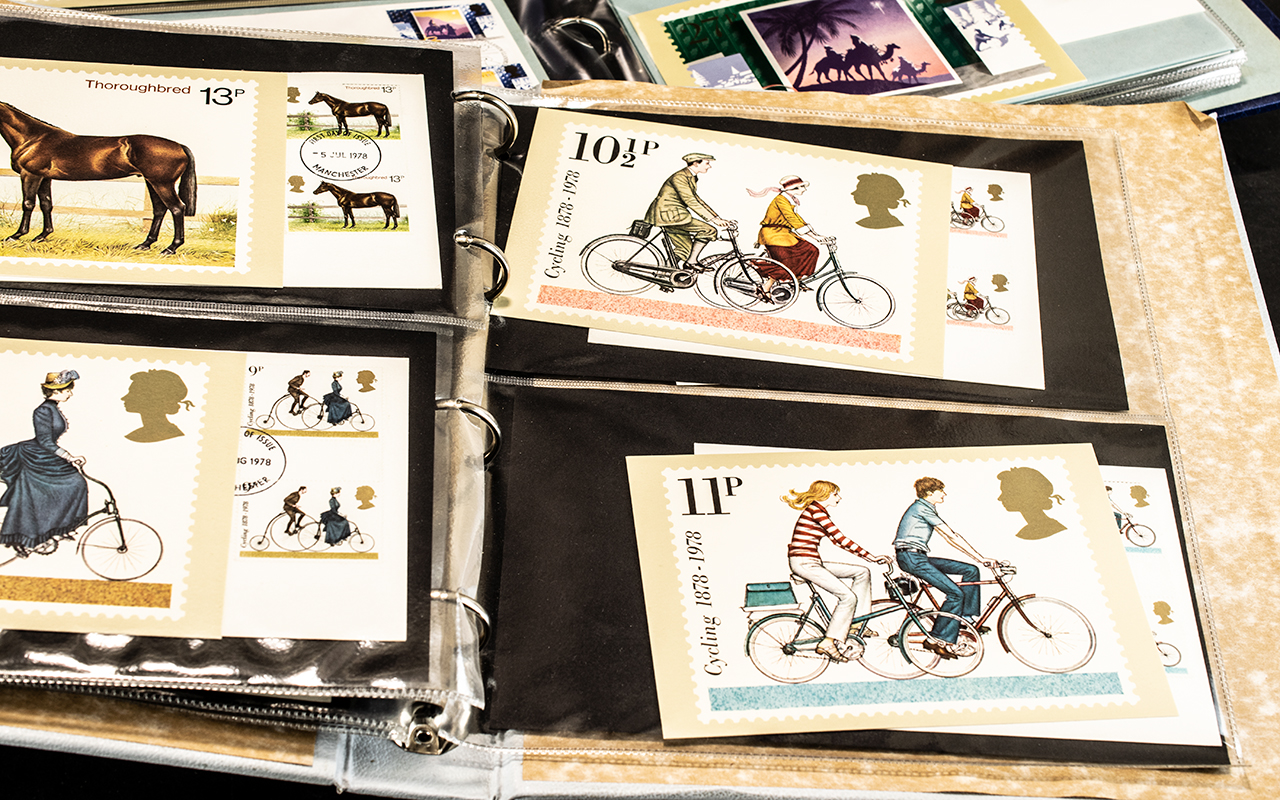 Very extensive collection of Post Office PHQ postcards and first day covers in nine folders, - Image 4 of 7