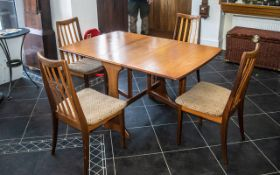 1950's / 1960's G Plan Table and 4 Chairs good condition throughout. All stamped G Plan. 25.5 inches