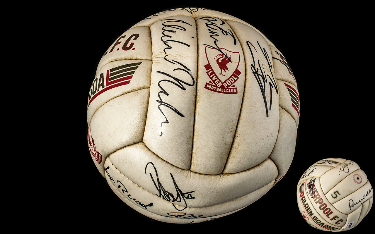 Liverpool Football Club Interest - Signed Liverpool FC Golden Goal Football,