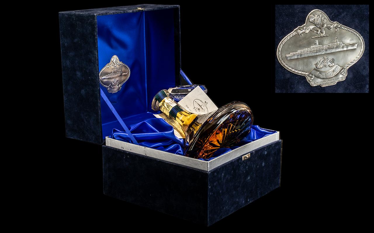Presentation QE ll Glencairn Crystal Glass Decanter, full of 12 Years Old Whisky,