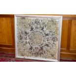 Ottorman 18th Century Large Silk Embroided Wall Hanging of Fine Quality Stitching, Picked out In