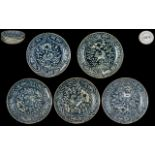 Chinese Export Wares: Five Late Ming Period Shallow Blue and White Bowls from the Binh Thuan