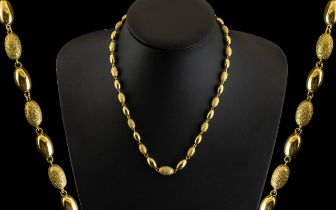 Ladies 9ct Gold Attractive Baubles Necklace with Screw Clasp.