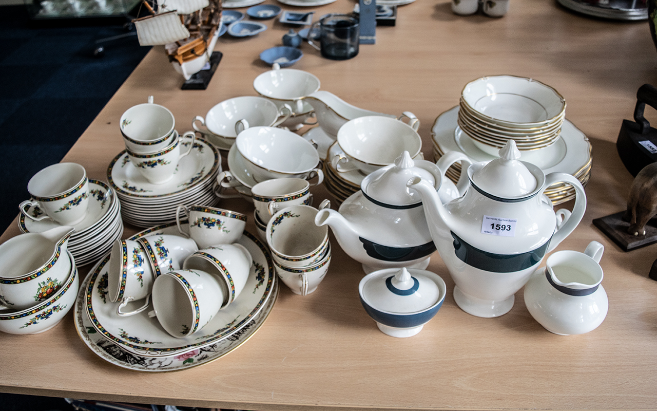 Collection of Quality China, including Doulton Style Tea Service, comprising Tea Pot, Milk Jug,