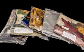 Collection of Vintage Designer Scarves, eight in total, comprising: 1. Pinto Silk Scarf 32'' square,