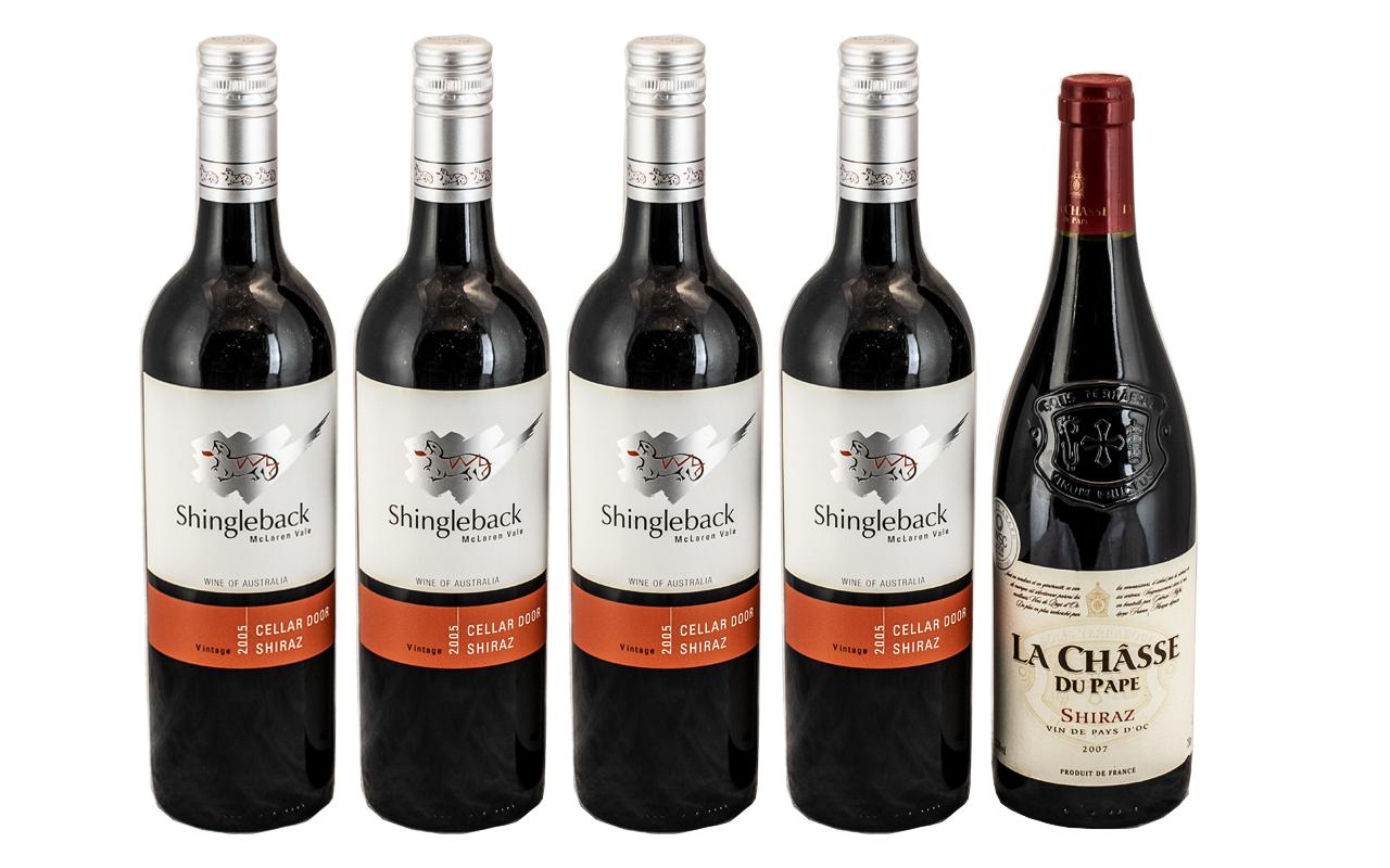 Shingleback Mclaren Vale 2005 Cellar Door Shiraz Multi-Award Winner ( 4 ) Bottles of Wine.