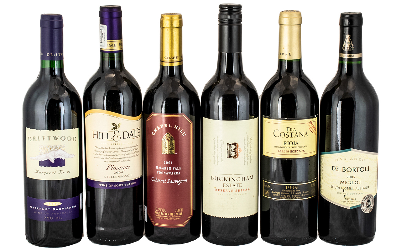 Excellent Collection of Assorted Vintage Wines - Some Medal Winners ( 6 ) Bottles In total.