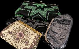 Four Vintage Designer Ladies Hand-Bags. Please See Photo.