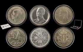 The Year of The Three Kings 80th Anniversary Silver Crown Set, Edition Mint 495 Only.