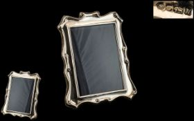 Silver Photo Frame of lovely quality and design, fully hallmarked for silver, 7.5 inches x 6