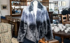 Ladies Dennis Basso Jacket size L, in shades of lilac and purple in ombre design. Fully lined in