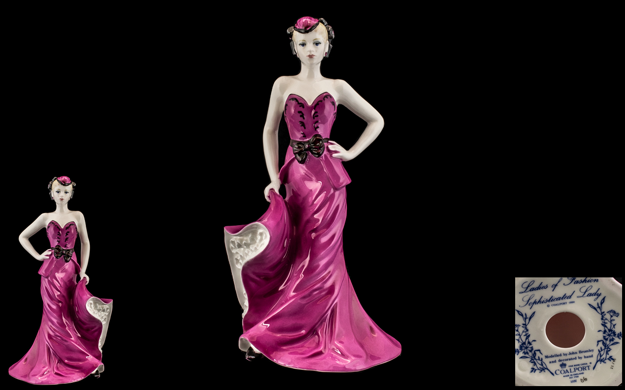 Coalport Fine Bone China Exclusive Hand Painted Figurine ' Ladies of Fashion ' Sophisticated Lady.