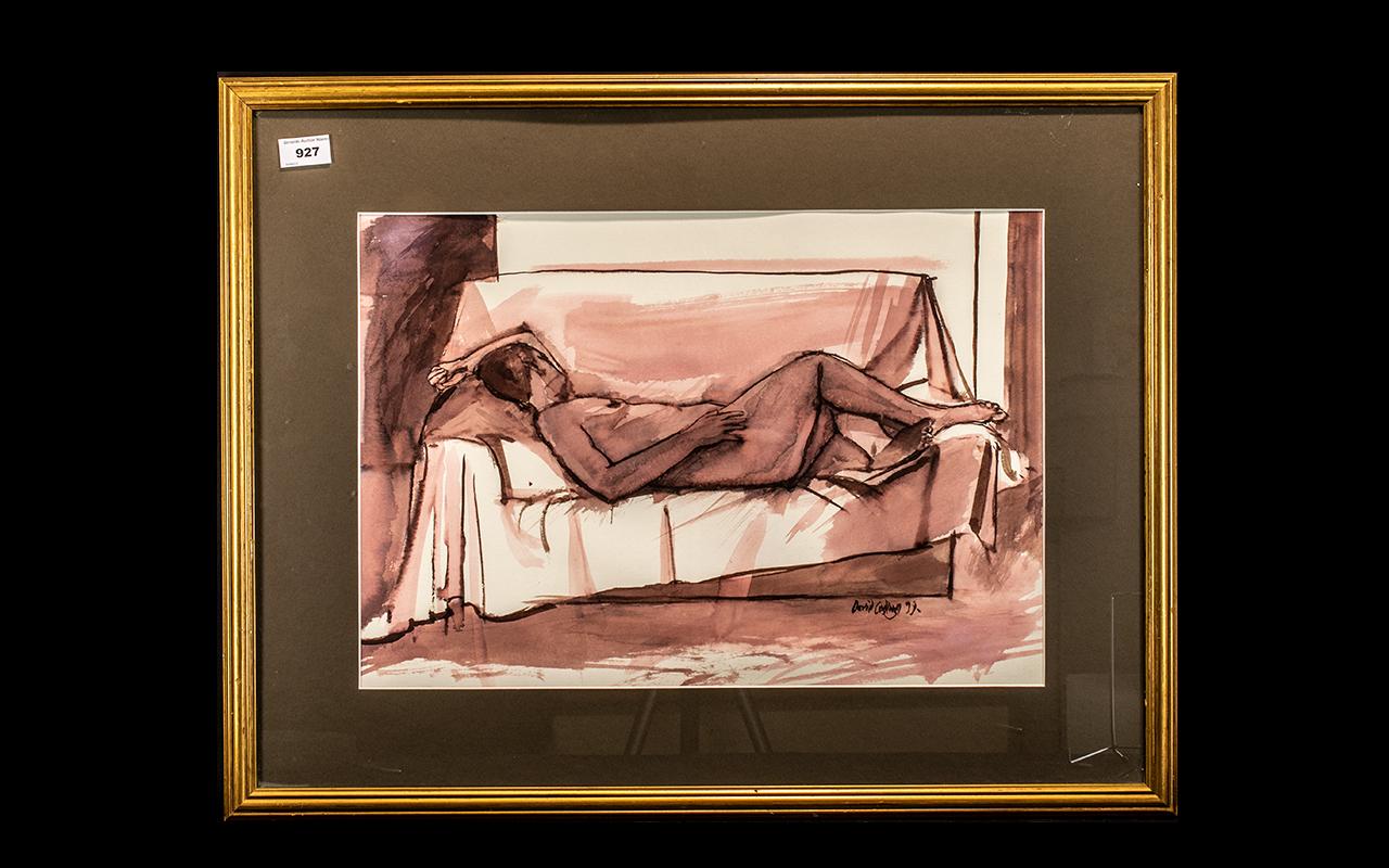 Framed Nude Sketch by David Codling.