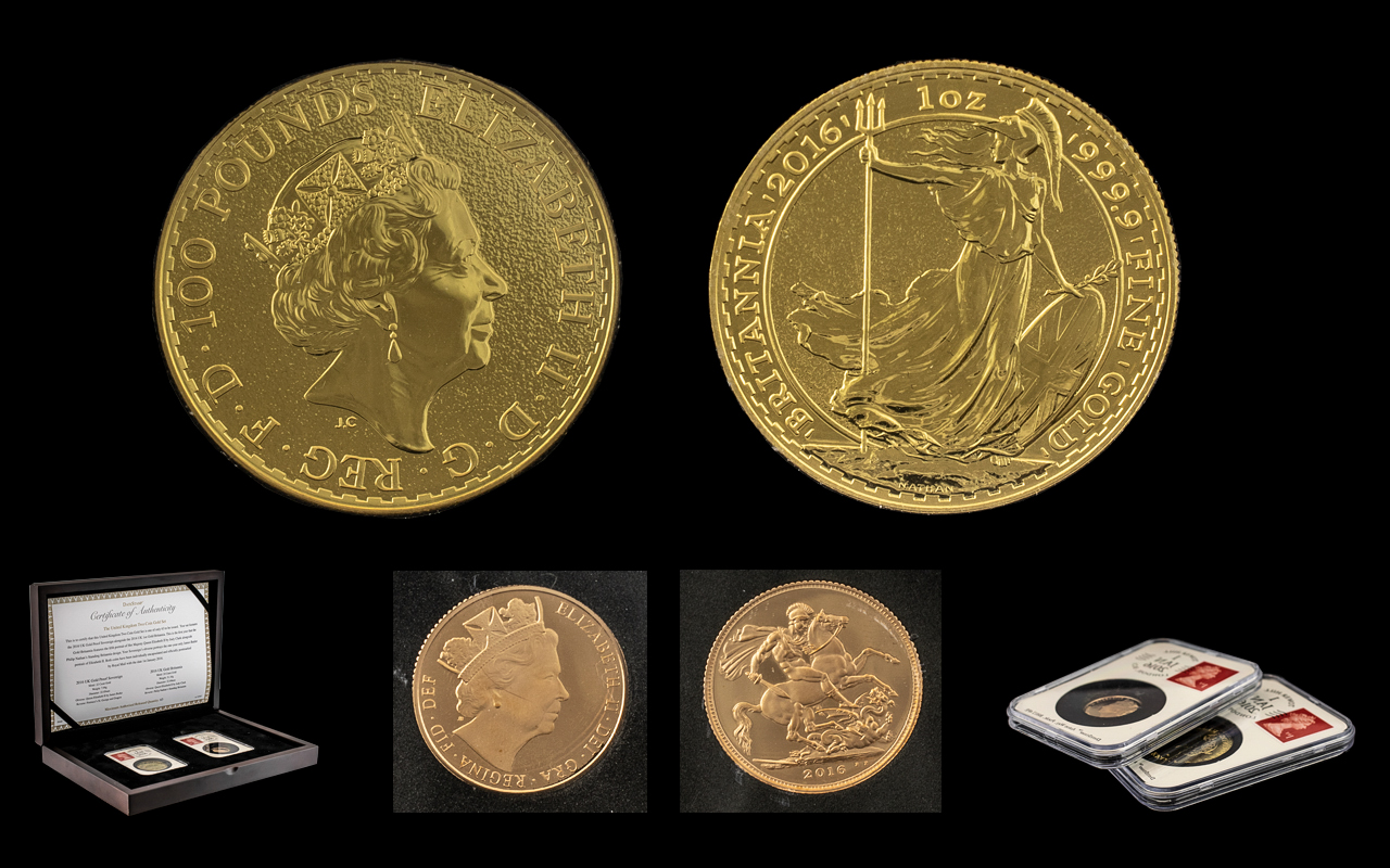 Royal Mint - The United Kingdom Two Coin Gold Set.