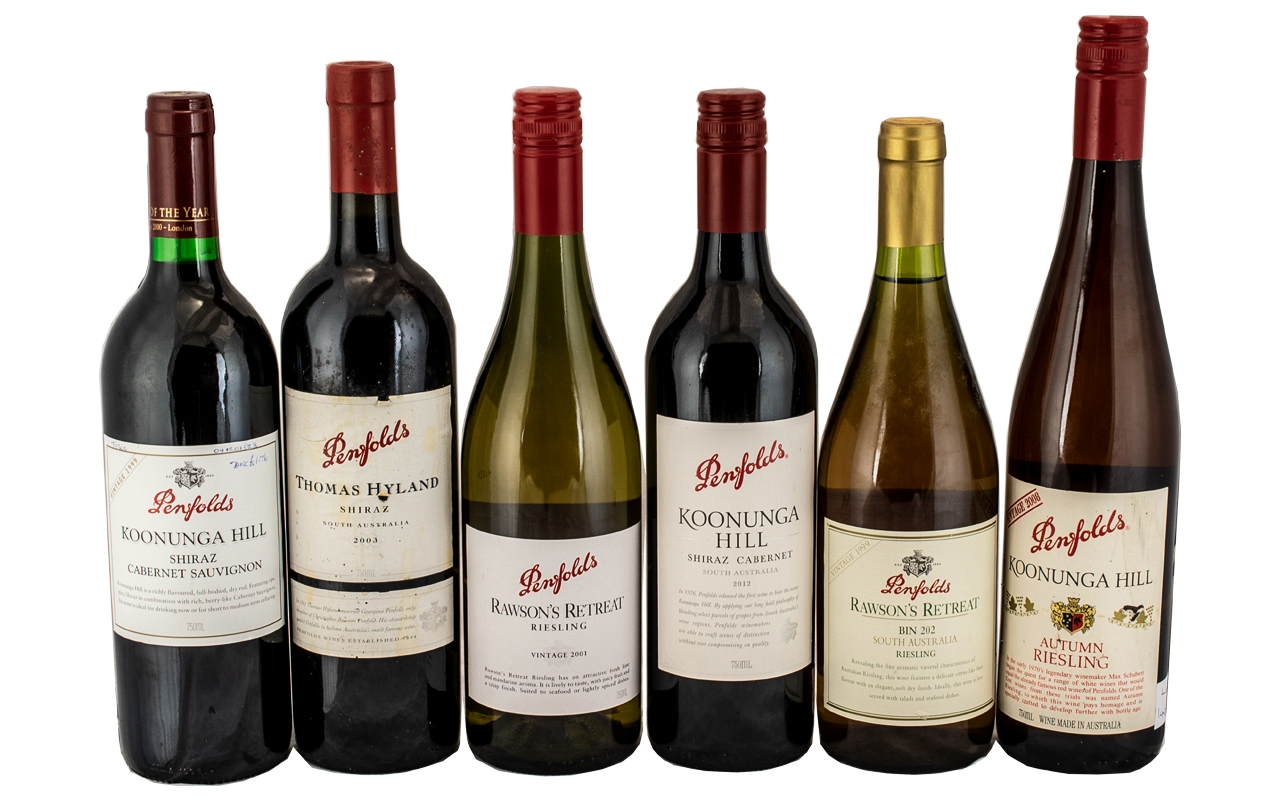 Penfolds Fine Collection of Vintage Wines ( 6 ) Bottles In Total. All Seals Intact.