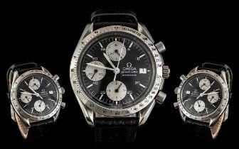 Omega Speedmaster Panda Gents Iconic Automatic Chronograph Wrist Watch.