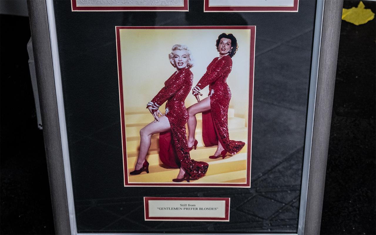 Marilyn Monroe & Jane Russell Signed Framed Stills from 'Gentlemen Prefer Blondes'. - Image 3 of 3