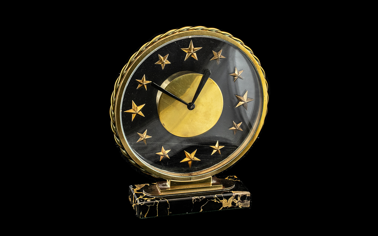 Bayard 8 Day French Art Deco Pendulum Clock In Excellent Condition - Very Heavy construction on