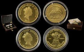 Royal Mint East India Company Ltd and Numbered Edition 24ct Gold 2 Coin Proof Set.