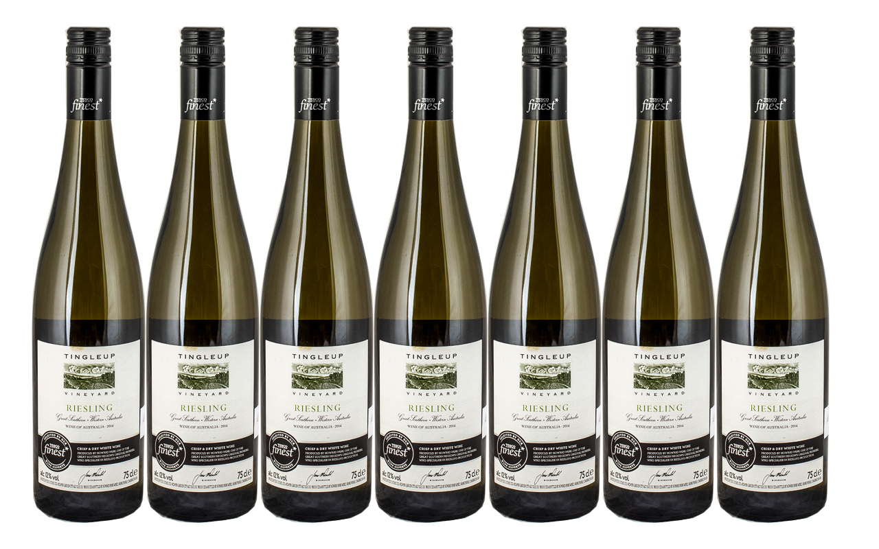 Tingleup - Riesling 2016 Crisp and Dry White Wine ( 7 ) Bottles In Total.