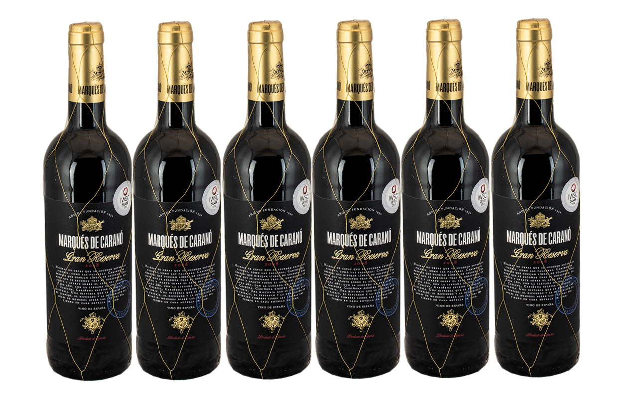 Marques De Carano Gran Reserve 2008 Collection of ( 6 ) Six Bottles of Medal Winning Red Wine,
