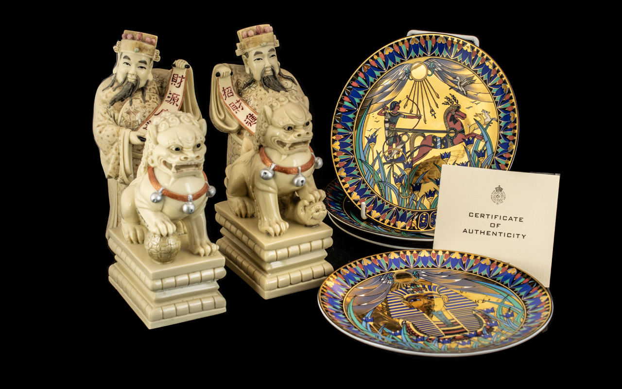 Collection of Four Chinese Resin Figures.