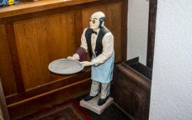 Superior Fibre Glass Dumb Waiter, mid-century. Good quality shop display dumb waiter, black