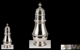 A Superior Sterling Silver Sugar Sifter of Pleasing Design and Proportions. In Nr Mint Condition.