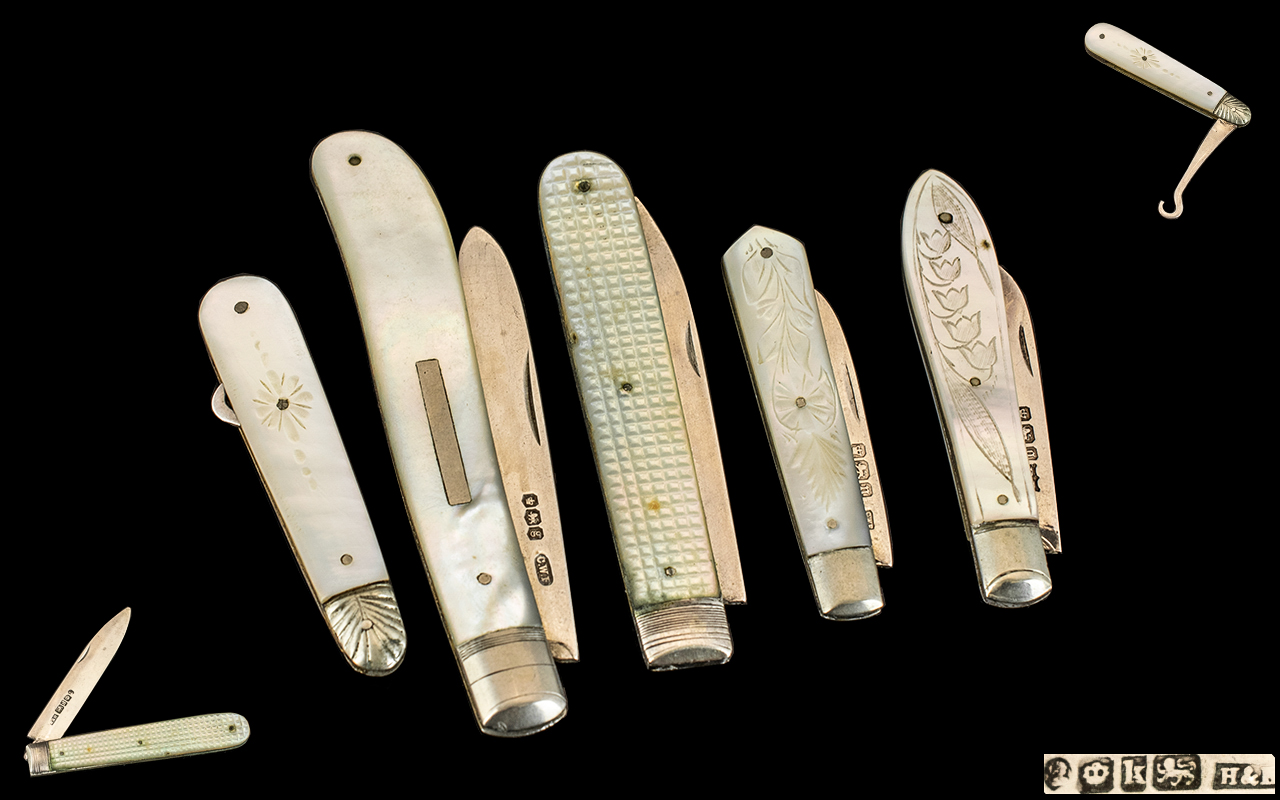 William IV Silver Bladed Penknife.