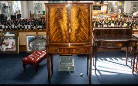 A Mid Century Mahogany Cocktail Cabinet,
