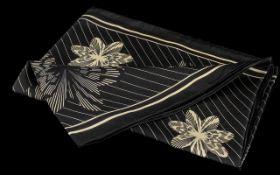 Vintage Betty Barclay Pure Silk Scarf, unusual design in black and cream colours.