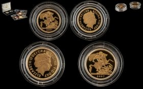 2007 Royal Mint Gold Proof Set of Sovereign and Half Sovereign, depicting George & the Dragon,