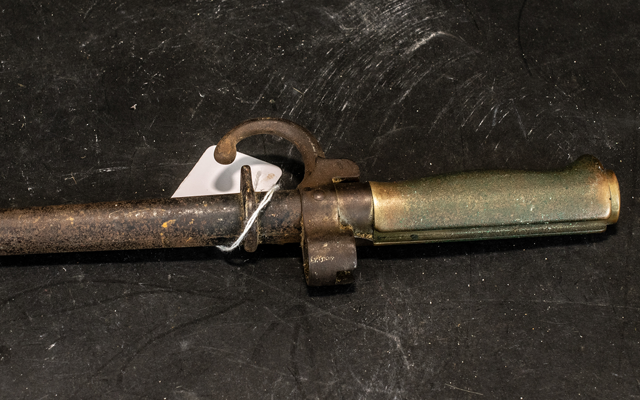 Two Antique French Bayonets in original scabbards comprising Model 1886 Epee and Model 1878 - Image 2 of 5