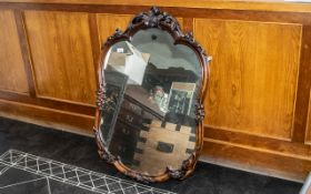 Victorian Shaped And Carved Wall Mirror,