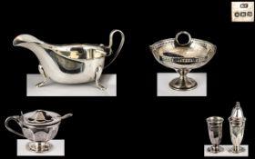 Small Silver Bon Bon Dish dated Birmingham 1917, maker ESB, 3 inches (7.