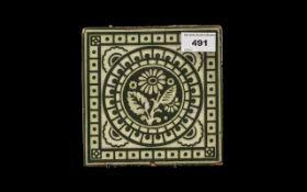 Rare Translucent Glazed Art Pottery Tile